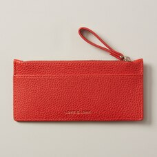 LOVE AND LORE ZIPPER CARDHOLDER RED FIRE