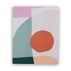 "MOGLEA MUSTARD DOT ABSTRACT ART PRINT – 8"" x 10"""