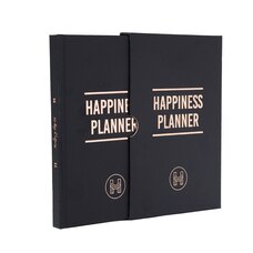 THE 100-DAY HAPPINESS PLANNER BLACK AND ROSE GOLD LUXE