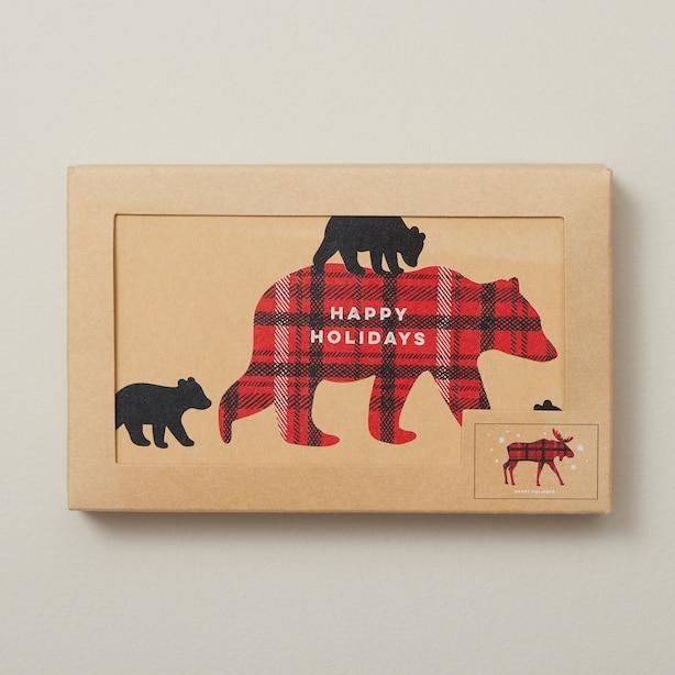 Holiday Boxed Cards Falala Kraft Buffalo Assorted Pack