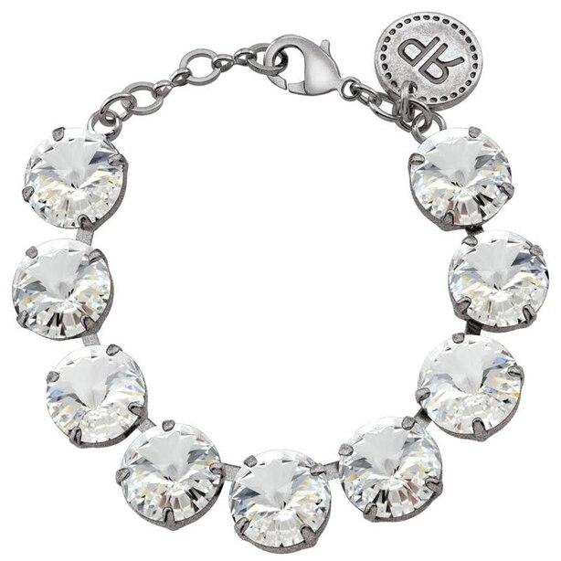 Rebekah Price Crystal Rivoli Bracelet - Antique Silver