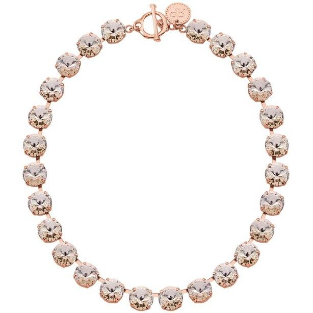 Rebekah Price Silk Rivoli Necklace - Rose Gold