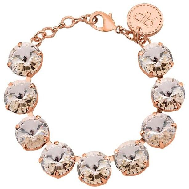 Rebekah Price Silk Rivoli Bracelet - Rose Gold