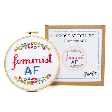 Cross Stitch Kit Feminist AF