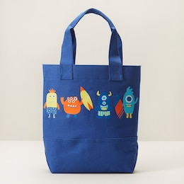 IndigoKids Canvas Beach Tote - Monsters