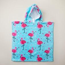 IndigoKids Poncho Towel - Flamingo