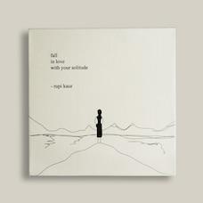 Toile Solitude – Rupi Kaur (30,5 CM X 30,5 CM)