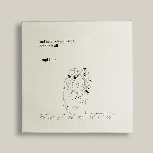 Toile Living – Rupi Kaur (30,5 CM X 30,5 CM)