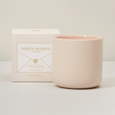 LIGHT MY FIRE HIDDEN MESSAGE PINK CHAMPAGNE MINI CANDLE