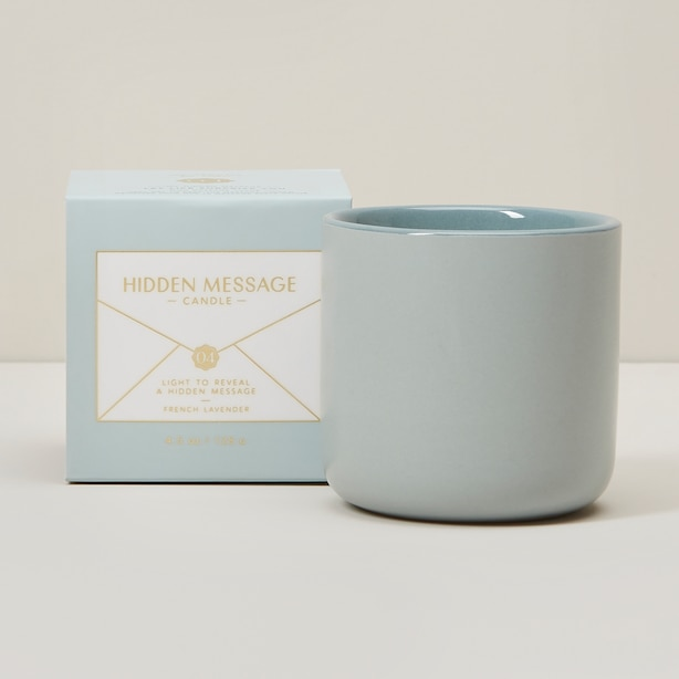 LIFE SURPRISE HIDDEN MESSAGE FRENCH LAVENDER MINI CANDLE
