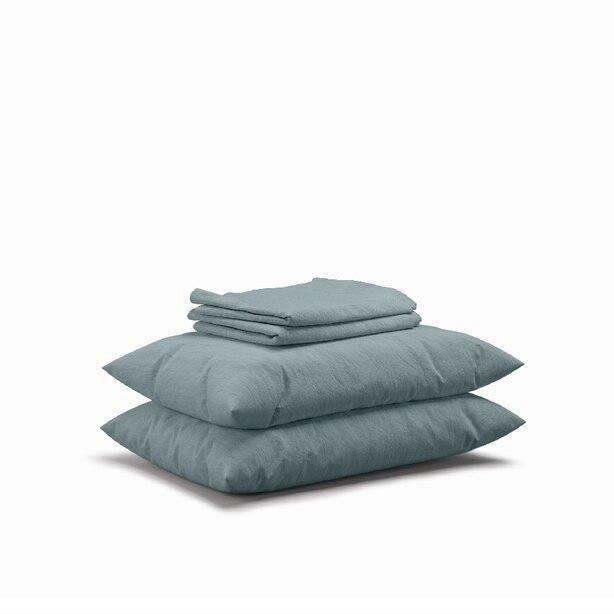 Flax Sleep Linen Sheet Set — Mist, Queen
