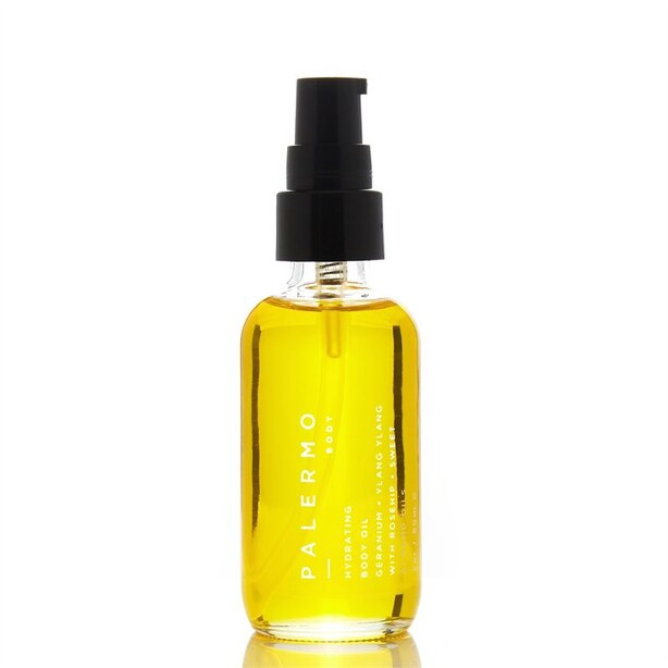 PALERMO BODY HYDRATING BODY OIL WITH GERANIUM AND YLANG YLANG