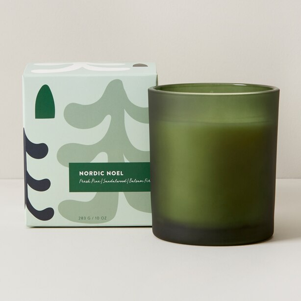 NORDIC NOEL POURED GLASS CANDLE
