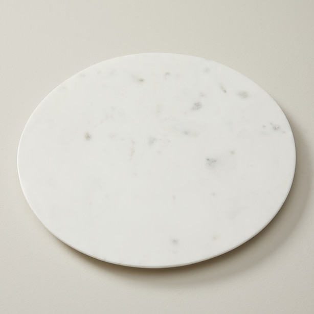 OUI LARGE WHITE MARBLE ROUND BOARD