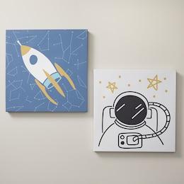 MINI MAISON SPACE CANVAS WALL ART SET OF 2