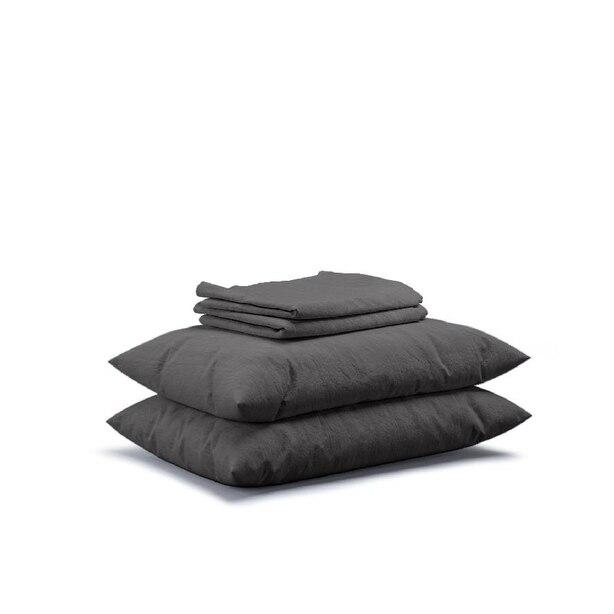 Flax Sleep Linen Sheet Set — Charcoal, Queen