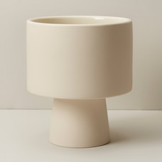 OUI PEDESTAL PLANTER BISQUE LARGE