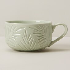 FERN DEBOSSED MUG SAGE