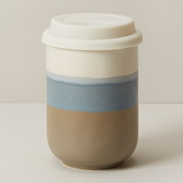 DIPPED CERAMIC ON-THE-GO CUP BLUE HORIZON