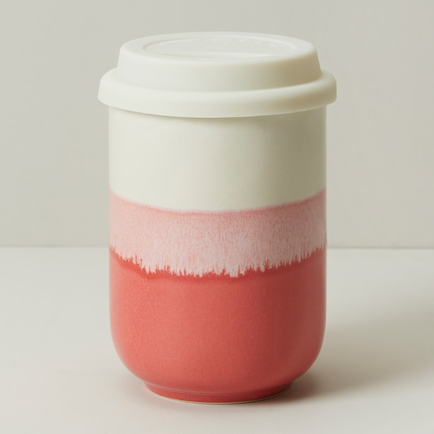 DIPPED CERAMIC ON-THE-GO CUP DUSTY ROSE