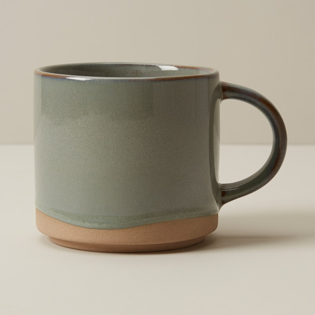 DIPPED CERAMIC MUG SAGE BRUSH