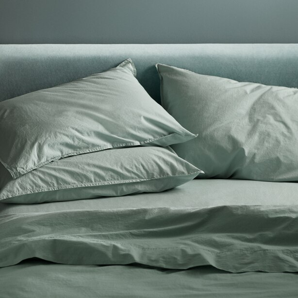 OUI ORGANIC COTTON SHEET SET QUEEN MINT