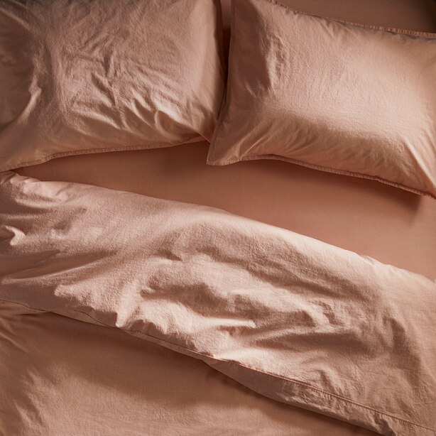 OUI ORGANIC COTTON PILLOWCASES STANDARD BLUSH SET OF 2