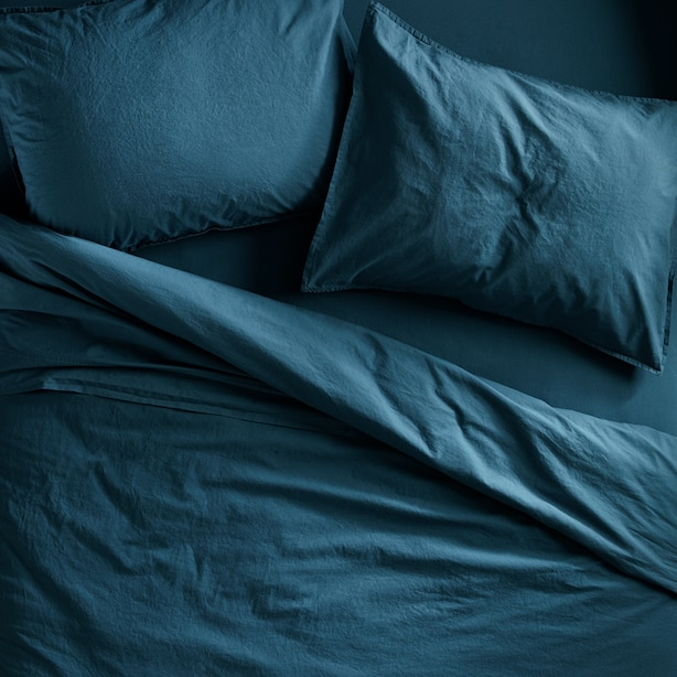 OUI ORGANIC COTTON DUVET COVER QUEEN OCEAN