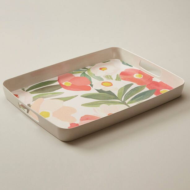 OUI TRAY SUMMER FLORAL CITRUS