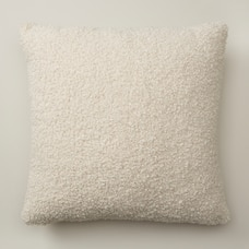 """SHAGGY FAUX FUR PILLOW COVER, IVORY 18"""" X 18"""""""
