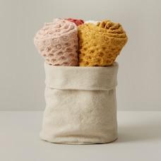 SET OF 4 KITCHEN TOWELS, WARM TONES