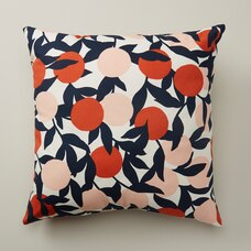 "OUI OUTDOOR PILLOW CITRUS BRANCHES TIGER LILY 18"" X 18"""