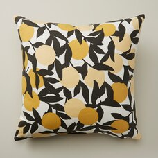 "OUI OUTDOOR PILLOW CITRUS BRANCHES STORM 18"" X 18"""