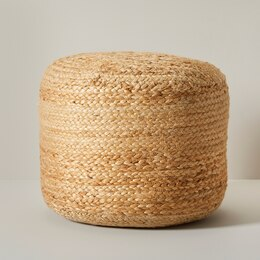 OUI INDOOR/OUTDOOR ROUND JUTE POUF SMALL