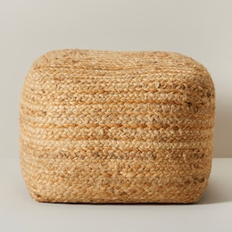 OUI INDOOR/OUTDOOR SQUARE JUTE POUF