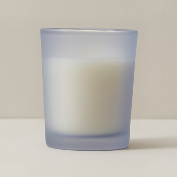 MINI POURED GLASS CANDLE FRESH COCONUT AND VANILLA