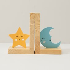 MOON AND STAR BOOKENDS