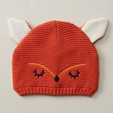 WOODLAND KNIT HAT, RUST FOX  SIZE 0-12 MONTHS