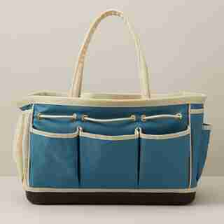 LEE VALLEY X OUI GARDEN TOTE BAG AEGEAN BLUE
