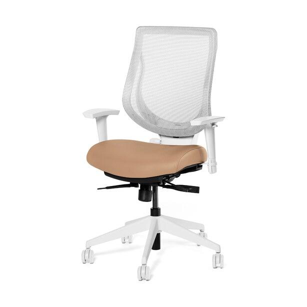 Ergonofis YouToo Ergonomic Chair White Frame Honey Leather