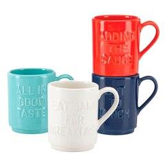 Kate Spade New York® Pretty Pantry Words Stacking Mugs – Set of 4
