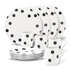Kate Spade New York® Deco Dot 12-Piece Dinnerware Set