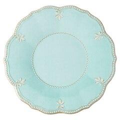 French Perle Aqua Dinner Plates – Set of 4
