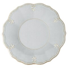 French Perle Grey Dinner Plates – Set of 4