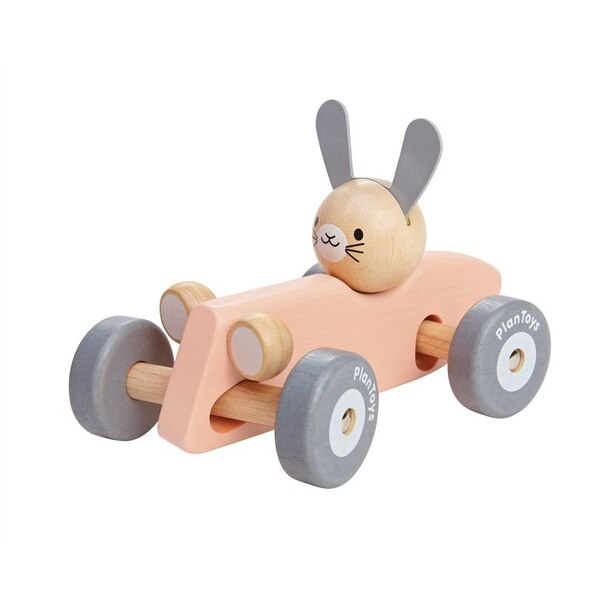 PLANTOYS RACING CAR BUNNY PINK