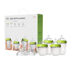 Comotomo Baby Bottle Bundle Green
