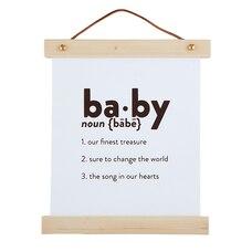 Bannière en toile et bois  BABY