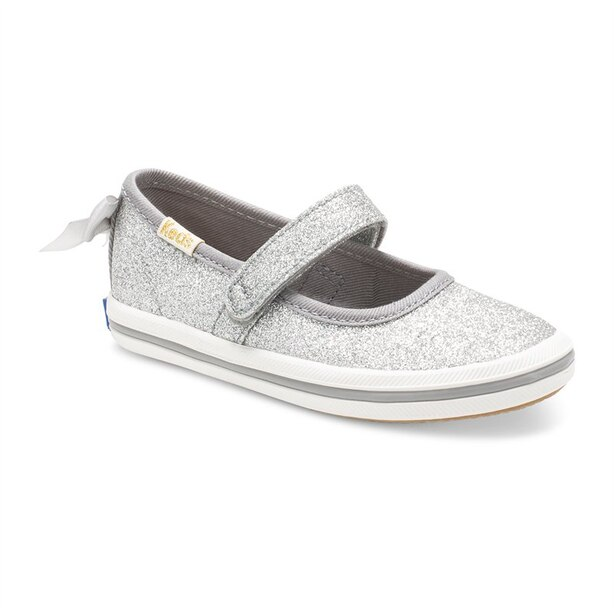 Keds® X Kate Spade New York® Sloane Mary Jane Crib Sneaker Silver Size 5
