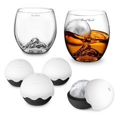On the Rock Glass and Ice Ball Gift Set
