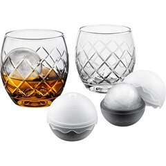 Final Touch On the Rock Etched Glasses 5-Piece Whiskey Set